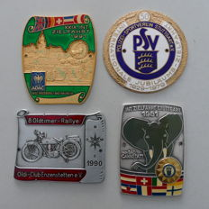 4 enamelled classic car badges 1979-1991 emblem