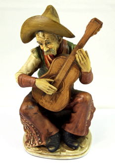 "Ceramic Statuette ""Guitar Player"""