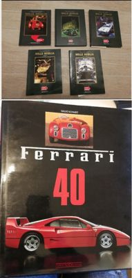 Mille Miglia - Official Catalogues - 5 volumes in single-number limited edition - 1989-1991-1992-1993-1994 - Volume Ferrari 40 Anni di macchine e piloti - 1987