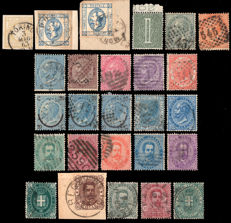 Italy, Kingdom 1862/1896 - Collection of stamps - Vittorio Emanuele II and Umberto I