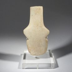 Extremely rare Greek, Neolithic marble idol