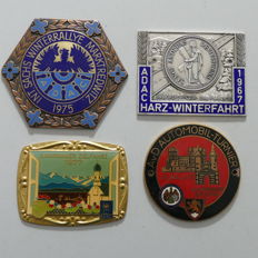 4x enamelled classic car badges 1967/77