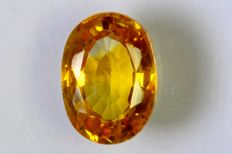 Yellowish Orange Sapphire - 1.19 ct