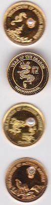 Fiji - 10 dollars 2012 'Year of the Dragon, Mother Nature' (4 pieces) - gold