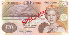 St. Helena - 20 Pounds 2004 - Specimen - Pick 13S - only 300 pieces issued