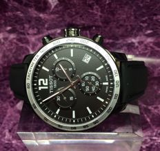Tissot Quickster Black Chronograph Swiss  Watch - Mint Condition