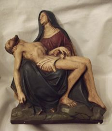 Beautiful pieta - Jesus in the arms of Mary - Belgium - early 20th century
