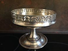 large silver plated fruit bowl with 2 hallmarks PHENIX, France, mid-20th century