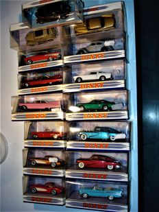 Dinky Toys-Matchbox - Scale 1/43 - Lot with 15 American models: Cadillac, Chevrolet, Ford, Tucker & Studebaker
