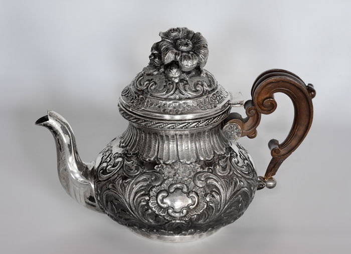 Coffee Pot by IMA of Guerci & C. Silversmith, Alessandria (Italy), 20th century