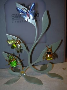 Swarovski Silver Crystal Paradise display stand small with 4 objects