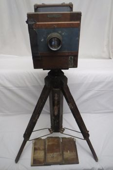 "The extinct, disappeared the very first camera of the USSR ""FK-13X18"" №675, the production of workshops ""Kubuch"" at the Leningrad Photo-Cinema Technical School. Lens ""Industar-4."" Made just about 1000pcs. 1930year"