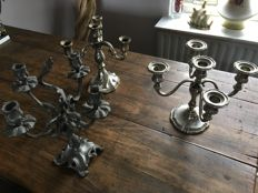 3 Antique heavy candlesticks