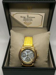 "Krug Baumen ""Principle Diamond"" - 150574DL - ladies chronograph watch"