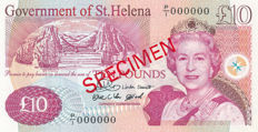St. Helena - 10 Pounds 2004 - Specimen - Pick 12S - only 300 pieces issued