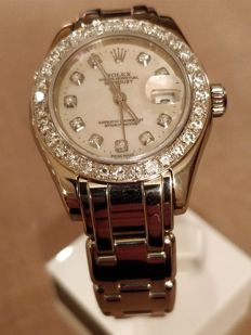 Rolex - 18kt Witgoud Masterpiece Pearlmaster 1.4ct Diamant - 80319( 2001 ) - Mujer - 2000 - 2010
