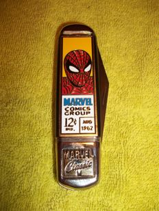 Spiderman pocket knife - Marvel Comics Group - Franklin Mint Collector Knives pocket knife with case - Marked : ©1997 Marvel - Very rare