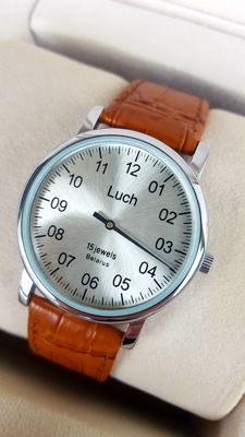 LUCH - One Hand Rare mechanical men's wristwatch from 1990's  like new (never worn)