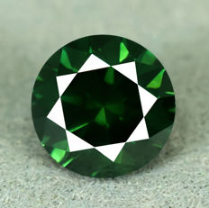 Blue green diamond - 1.28 ct