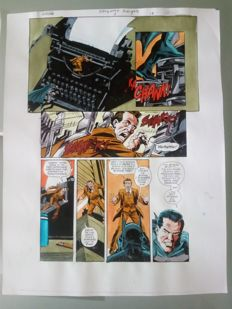 Glenn Whitmore - Original Colourisation (Colour Guide Art) - Batman Hollywood Knight #3 - Page 14 - Dick Giordano - (2001)