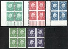 Federal Republic of Germany and Berlin 1959/97 - collection of definitives and blocks of four