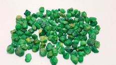 Nice 63 grams emerald crystals lot.  5-21 mm.  316 ct.
