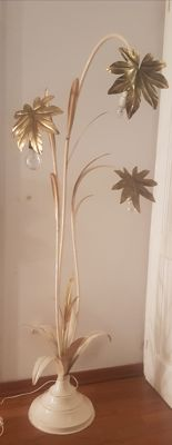 Unknown designer - Floor lamp with gold leaves