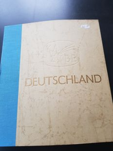 Germany 1950/1970 - Federal Republic of Germany and GDR or East Germany in an old, thick KABE album