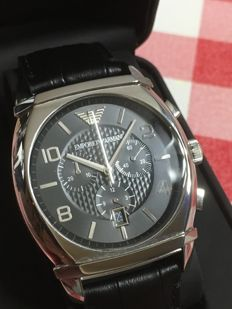 """EMPORIO ARMANI  AR-0347  """"Chronograph""""  – men's dress watch – 2017 -- used, in mint condition."""