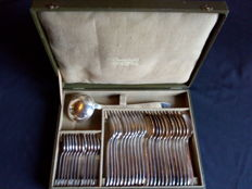 Christofle cutlery set of 37 silver plated pieces in its original box