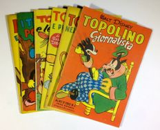 Topolino - Lot of 6x Albi d'Oro - first reprint - 1949-51