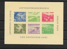 5 blocks issued privately for the Berlin '72 exposition - rare - Michel value: €800