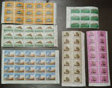 San Marino and Vatican - Collection of new stamps in blocks and sheets