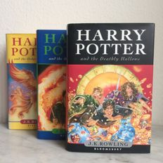 J.K. Rowling; Harry Potter - 3 volumes - 2003/2007