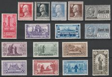 Kingdom of Italy 1927-1931 - 4 complete series from the period