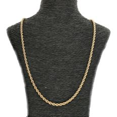 14 kt - Yellow gold, rope link necklace - Length: 51 cm