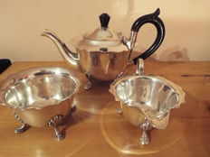 silver plated teaset 1930s