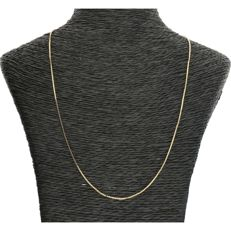 14 kt - Yellow gold Venetian link necklace - Length: 45 cm