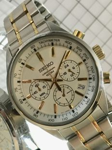 """SEIKO """"Chronograph"""" – men's wristwatch – 2017 -- used, in mint condition."""