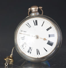 Lamplough fusee verge escapement pocket watch, London, around 1850