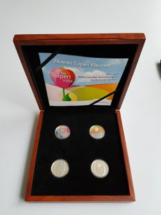 Netherlands - Prestige set 2012 ' Tulip Colour set'  - silver