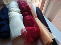 Lot of tulle for creative works and more