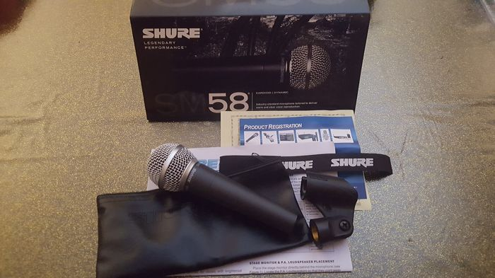 SM58 Shure voice microphone, new