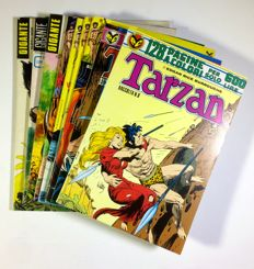 Tarzan by  Edgar Rice Burroughs- 3x giant albums with posters + 4x monthly albums + 2x special issues (1972-78)