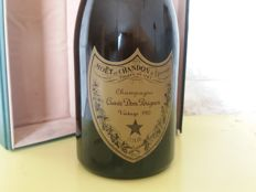 1985 Dom Perignon Vintage Champagne Brut - 1 bottle (0.75L) with original box