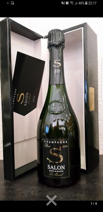 2002 Salon Cuvee \'S\' Le Mesnil, Blanc de Blancs Champagne - 1 bottle (75cl)  in box - Catawiki