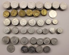 Italian Republic - 1, 2, 5, 10, 20, 50 lire from 1948 to 67 (lot of 397 coins)