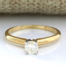 14 kt Yellow Gold 0.42 ct Diamond Ring, Size: 6.5