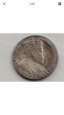 A 1902 very smart looking sliver coronation Adward II medallion coin