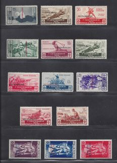 Egeo 1930/1934 - Various depictions - Sass. NN. 80/90 and PA1/PA3